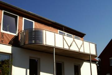 Balkon mit runden Ecken